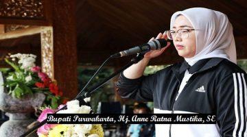 Bupati Purwakarta, Hj. Anne Ratna Mustika, SE jadi Irup peringatan Haornas ke-36