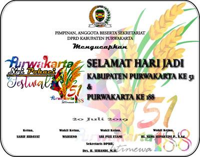 IKLAN UCAPAN HARI JADI PURWAKARTA 2019