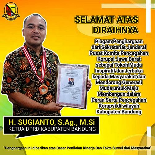 Iklan Ketua DPRD Kab. Bandung, H. Sugianto, S.Ag., M.Si