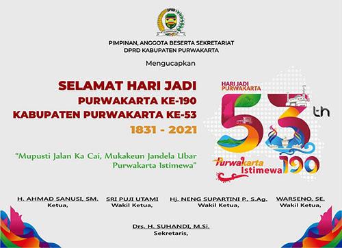 Iklan Hari Jadi Purwakarta dari DPRD Purwakarta