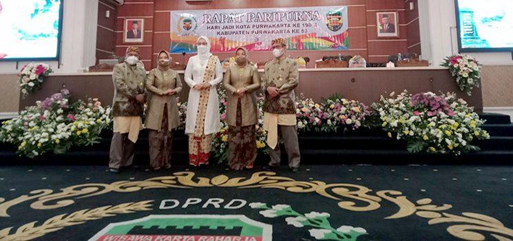 Pimpinan DPRD bersama Bupati Purwakarta